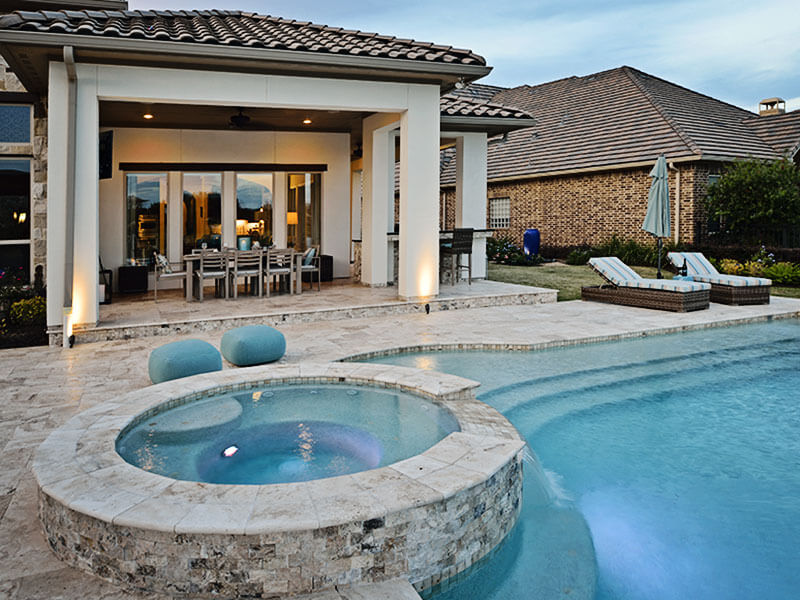 pool builder outdoor elements stone pool - Outdoor House Pools